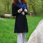 zimní kabát vlněný