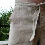 Detail konopné kalhoty