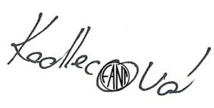 podpis kolofantský